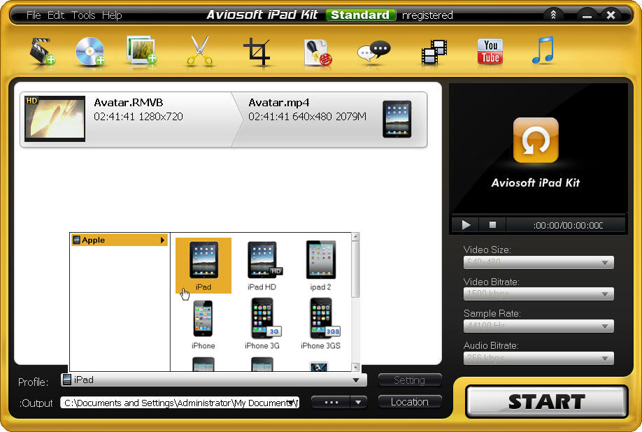 Aviosoft iPad Kit - add HD video
