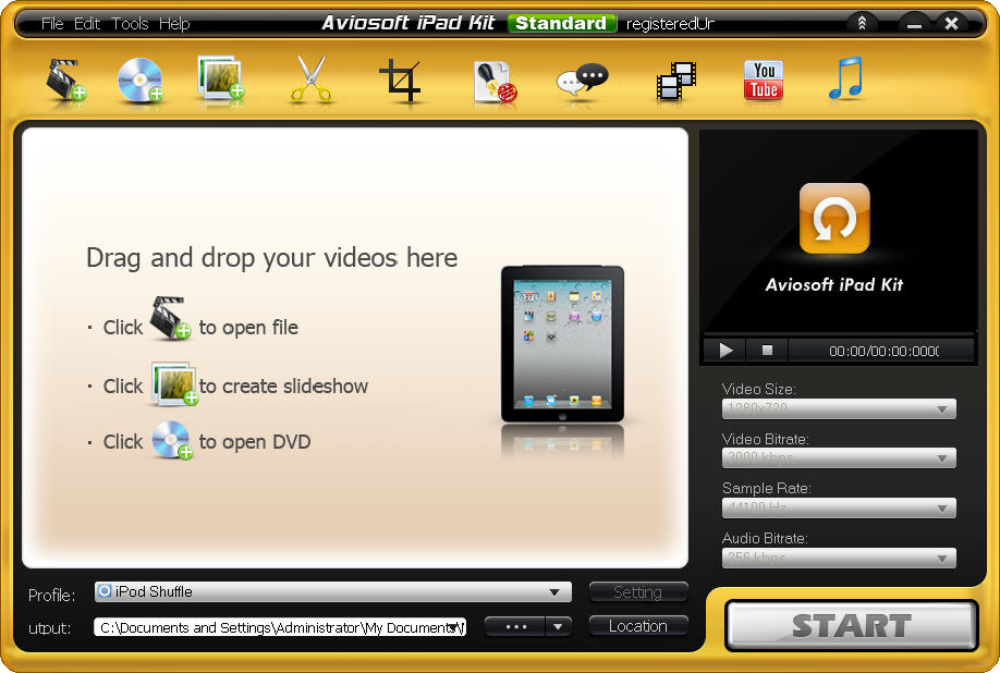 Aviosoft iPad Kit interface