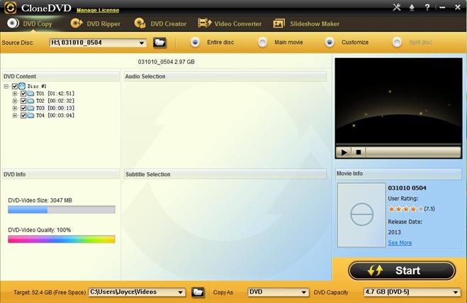 CloneDVD Studio DVD Copy
