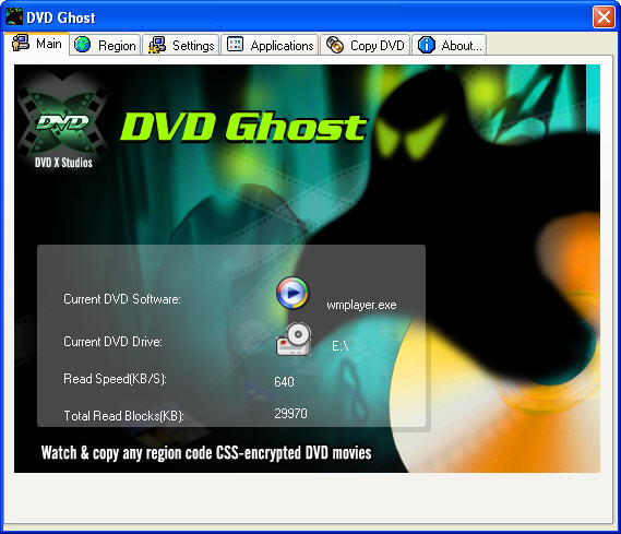 DVD ghost main window