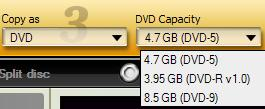 choose dvd size