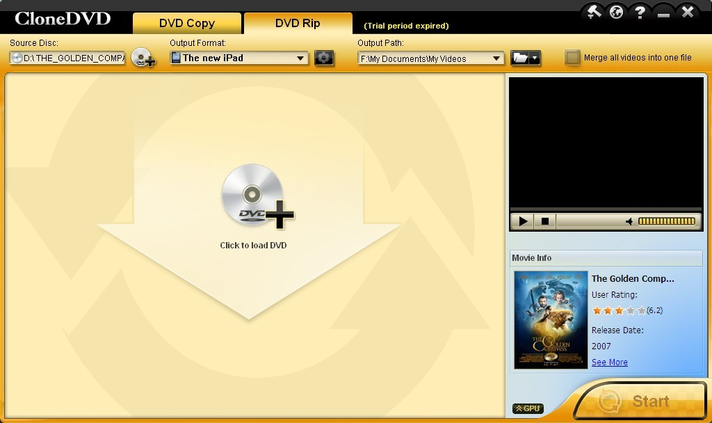Copy DVD to ISO on Windows PC with DVD to ISO Copy Mode inside CloneDVD