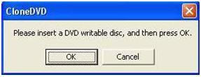 insert a blank disc