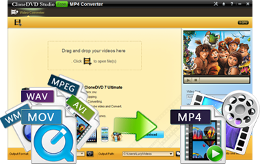 Free MP4 Converter - Convert MOV to MP4, AVI to MP4, MPEG to