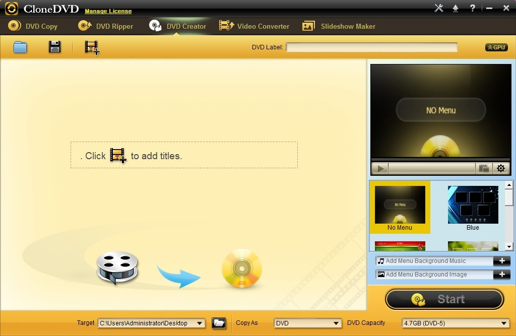 CloneDVD DVD Creator Screenshot