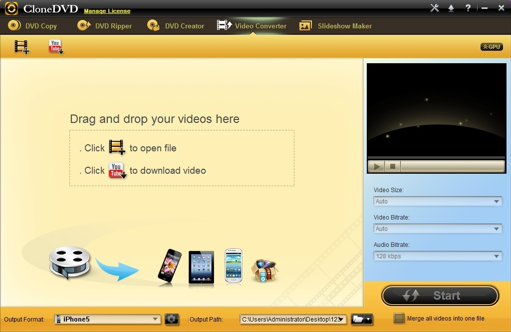 CloneDVD Studio Video Converter is a wonderful video conversion software.