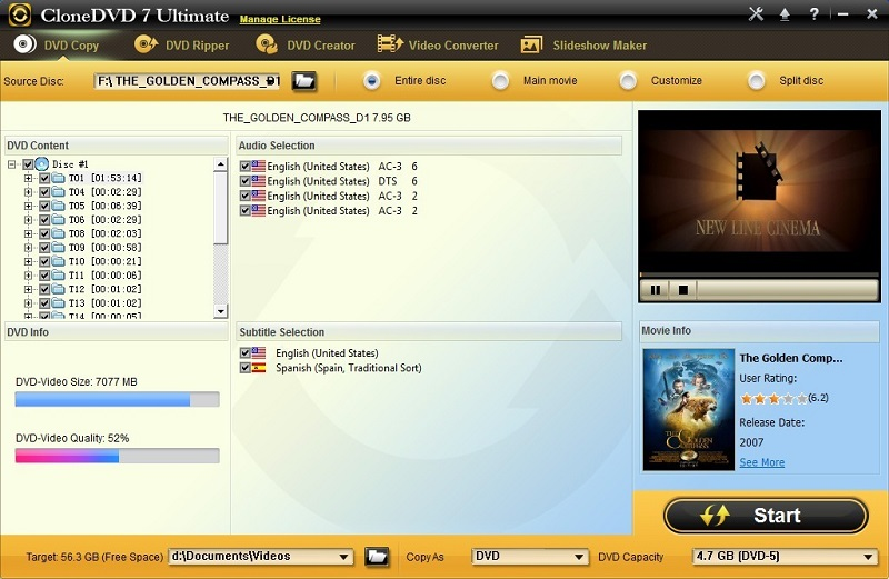 CloneDVD 7 Ultimate 7.0.0.15 screenshot