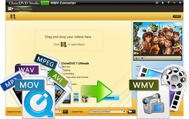 convert mp4 avi mov mkv to wmv