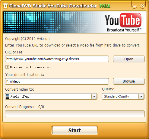 CloneDVD Studio YouTube Downloader